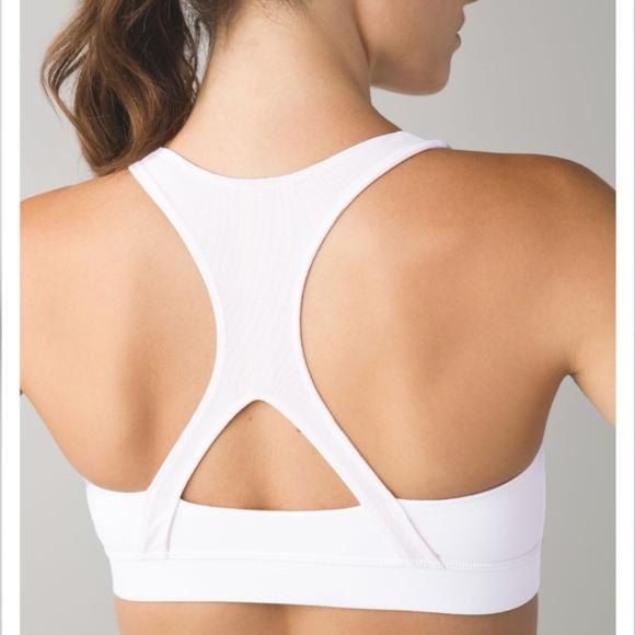 76ca5b8a2bf83 lululemon athletica Other - Lululemon 50 Rep Mesh X-Back Bra in white